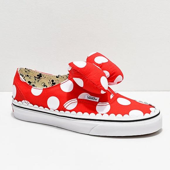 458905650e Vans Authentic Gore Disney Minnie s Bow Skate Shoe